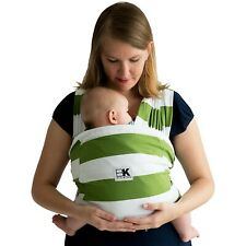 Baby K'Tan Baby Carrier Stretch Cotton No Wrapping Size: XS Olive/White