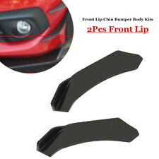 Pair Black Car SUV Front Lower Bumper Lip Body Kit Truck Auto Spoiler Cover Part