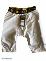 MENS UNDER ARMOUR SLIDER SHORT WITH TAG WHITE/YELLOW SIZE MEDIUM NEW