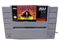 Arcana Super Nintendo SNES Tested Works Authentic RARE GAME USA Seller!!