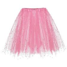 Women Paillette Elastic 3 Layered Short Skirt Adult Tutu Dancing Skirt Lovely CA