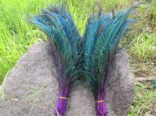5Stk.left+5Stk right        Pfauenfedern Federn Pfauen Pfauenfeder 30-35cm Lila