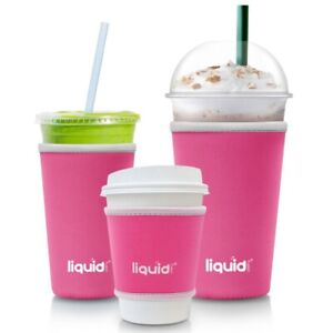 Assorted Sizes 3 Pack Hot Cold Drinks Insulated Neoprene Iced Coffee Cup Sleeve