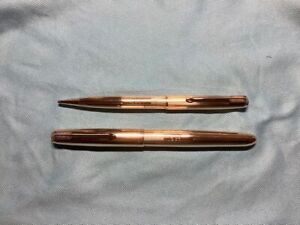 Parker 51 Insignia / Signet 12K Rolled Gold Fountain Pen & Clutch Pencil : Cased