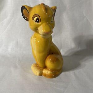 "Disney The Lion King Simba Piggy Bank 8"" Ceramic"