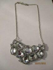 Ladies Clear Arc Cluster  Pendant Necklace
