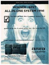 Aiwa Winner Best All In One System 1994 Magazine Ad Advert QE045