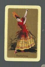 PLAYING SWAP CARDS 1 VINT  SPANISH DANCER ENG NMD  BAILARINA  ART BARRIBAL  BA32