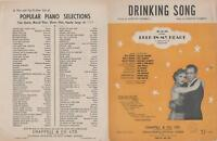 DRINKING SONG Sheet Music © 1925 DEEP in my HEART, Merle Oberon, Walter Pidgeon