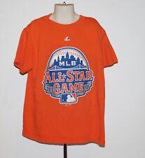 2013 MLB All Star Game Citi Field Majestic Youth Sm Orange T Shirt-New York Mets
