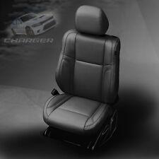 2015 2016 2017 Dodge Charger SXT RT R/T Black Katzkin Leather Seat Covers