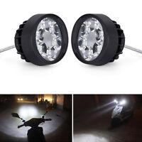 Motorcycle Spot Fog Light Headlight Front Head Lamp 6 LED 12V-85V Pair Universal