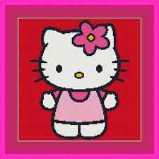 Hello Kitty Cute Cross Stitch Kit