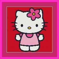 Hello Kitty Cute Cross Stitch Kit