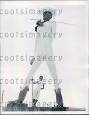 1958 20 ft Concrete Cowboy New Town North Dakota Press Photo