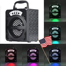 US Portable Outdoor Bluetooth Wireless Speaker Super Bass w/ USB/TF/AUX/FM Radio