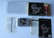 **MINT CART** Resident Evil 2 Nintendo 64 COMPLETE CIB Boxed Game Super Rare HTF