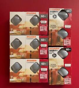 Lot 20 - 60 Watt Soft White 120 V Incandescent A19 Light Bulbs by Sylvania NEW