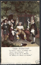 "Poem Postcard - The Puritan -""To Banbury Came I,O Profane One...   RS1338"