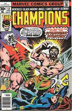 Champions #12 Hercules Black Widow Angel Ghost Rider Fn Marvel Comics March 1976