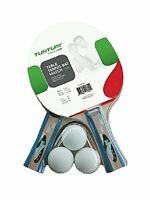 Tunturi match table tennis set 2 x 2 star bats & 3 x 40mm balls - multicoloured