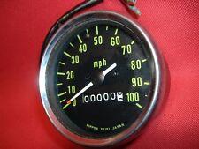 Kawasaki G5 100 speedo speedometer 25001-051 Nippon Seiki 100 mph 1972-75 blems
