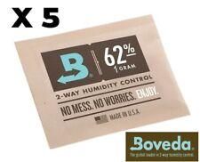BOVEDA 62% RH 1 GRAM HUMIDIPAK - 5 PACK - 2-WAY HUMIDITY CONTROL (1g) RM24 NEW