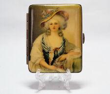 altes  Metall  Zigarettenetui  Feine Dame  Anfang XX- jh  cigarette case