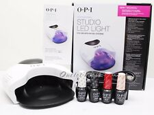 OPI GelColor STUDIO LED LIGHT Lamp GL901 + Base +Top Coat + 2 ANY Colors SET KIT