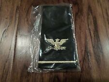 NEW U.S MILITARY EPAULETS ARMY COLONEL RANK SHOULDER BLACK IN COLOR USA MADE