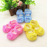 AU_ Toddler Baby Girls Lovely Floral Printed Bow Soft Sole Toddles Shoes Prewalk