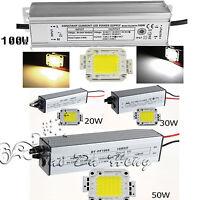 10W 20W 30W 50W 100W Waterproof High Power LED Driver Supply / LED SMD Chip Bulb