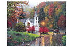 landscape horses forest ' modern new unposted postcard by Mark Keathley