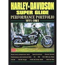 Harley-Davidson Super Glide rendimiento cartera 1971-1981 libro papel