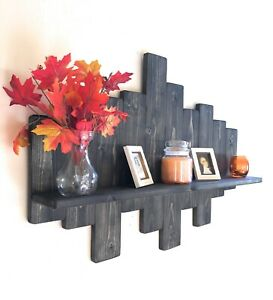 Wall Mounting shelf, hand made wooden wall rack, wood, rustic decorative shelf
