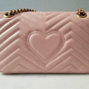 Gucci marmont matelasse flap bag pink Chain Wallet Crossbody Bag
