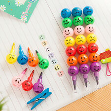 4 Pcs/Lot Emoji 7 Candy Colors Pen School Watercolor Pens Crayon Stationery