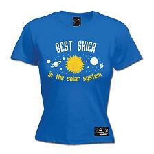 Best Skier Solar System Womens Powder Monkeez T-Shirt birthday gift ski skiing