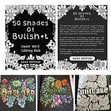 Coloring Book Swear Curse Word Designs Stress Relief Relax Pattern Adult Therapy