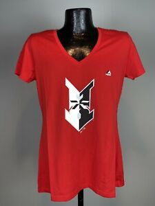 Women's Majestic Fan Fashion Indianapolis Indians Minor League Baseball Tee L