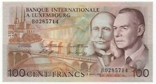 LUXEMBOURG 100 FRANCS 1981 PICK 14 A UNC-