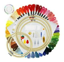 Full Range of Embroidery Starter Kit Including Instructions, 5 Pieces Bamboo...