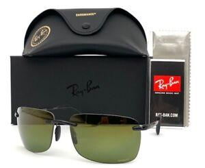 Ray Ban CHROMANCE RB4255 601/6O Gray / Green Gold Polarized 60mm Sunglasses