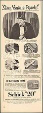1953 vintage AD SCHICK '20' Electric Shaver w/ JACKIE GLEASON Reggie (062616)