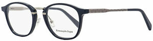 Ermenegildo Zegna Oval Eyeglasses EZ5101 092 Dark Blue/Ruthenium 50mm 5101