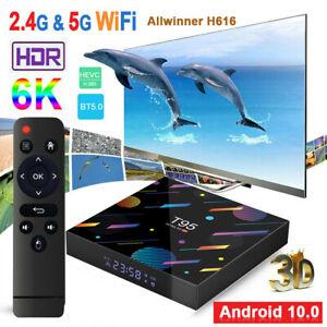 T95 NEU Android 10.0 Smart-TV-Box 4+32GB 6K-HDR 2,4G/5G-WLAN BT4.0 100M LAN 3D