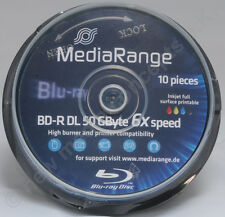 Mr509 1x 10 X eje Mediarange Bluray Bd-r 50gb Full imprimible Gravable 50 GB