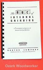 How to do Internal Grinding Handbook Manual Norton's ABCs 0888