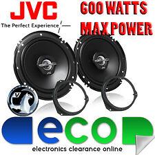 Vauxhall Corsa D 06-14 JVC 16cm 6.5 pulgadas 600 Watts 2 vías puerta altavoces del coche