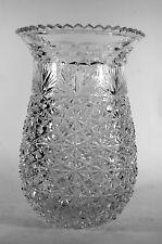 Vintage Cut Crystal Vase Turkish Glass